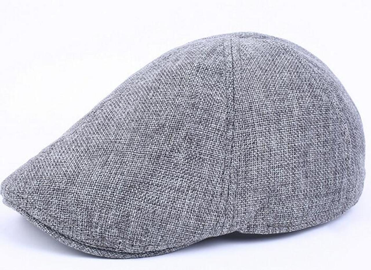 90500ff89f 2018 bridget Hemp breathable Beret male tide cap forward peaked cap lady  outdoor leisure hat duck ...