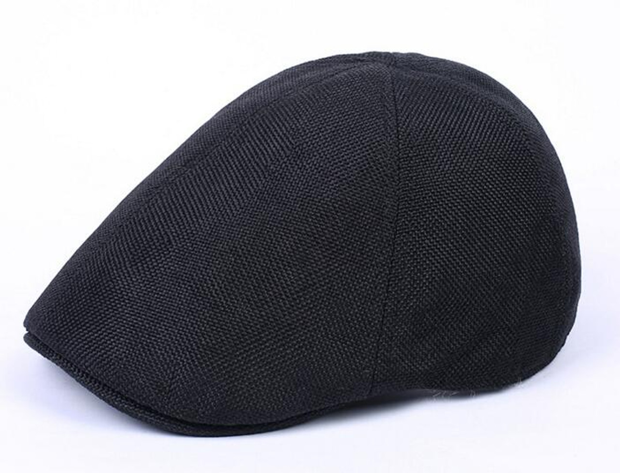 d9f256bbb6596 ... 2018 bridget Hemp breathable Beret male tide cap forward peaked cap  lady outdoor leisure hat duck ...