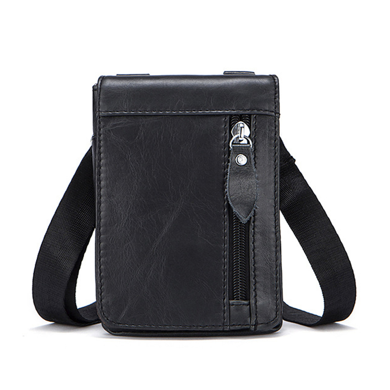 8e050d6c30d86 ... OTHERCHIC Genuine Leather Small Bags Men Leather Belt Waist Pack  Messenger Bags Phone Pouch Fanny Pack ...