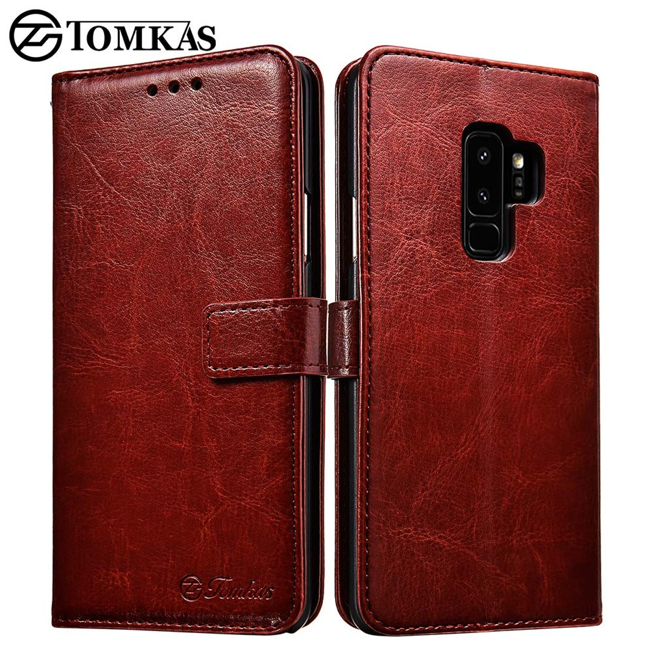 f1a4146e068 S9 Luxury Flip Leather Case For Samsung Galaxy S9 S9 Plus Wallet Card  Pocket Coque Cover ...