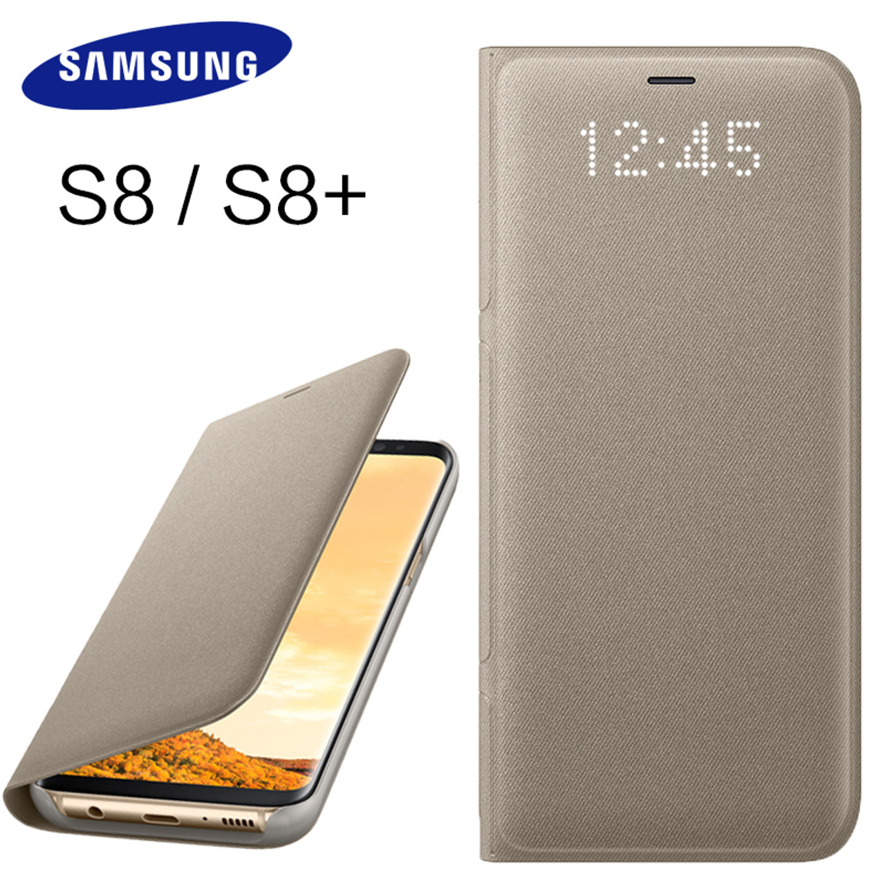 buy online cf6a1 15a10 Samsung S8 S 8 Plus Original LED View Cover Case 360 Wallet Flip Leather  Cute Protective Shockproof Protection Luxury Back Cases