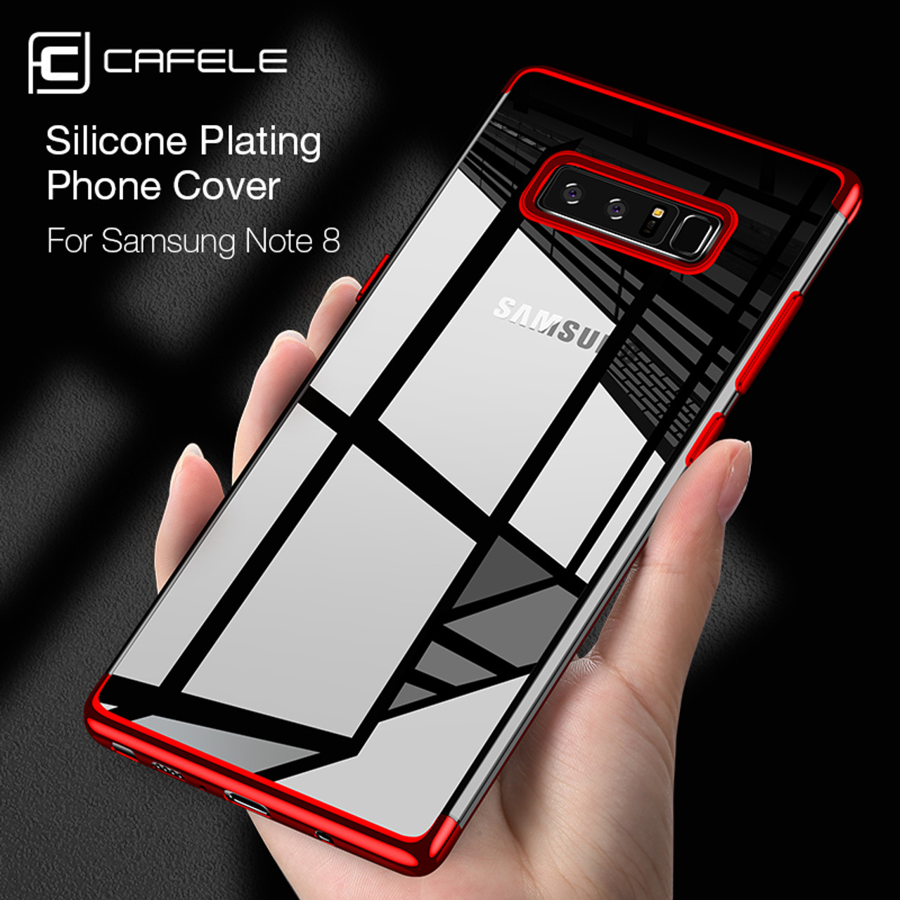 quality design dc944 3e868 CAFELE Phone Case For Samsung Note 8 Luxury Fashion Transparent TPU Soft  Plated Mobile Phone Back Shell For Galaxy Note 8 Case