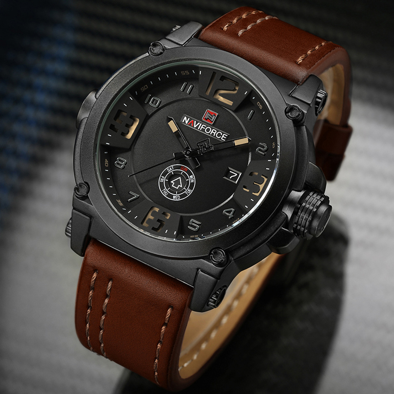 6749f4c6d ... 2017 New Fashion Mens Watches Naviforce Militray Sport Quartz Men Watch  Leather Waterproof Male Wristwatches Relogio ...