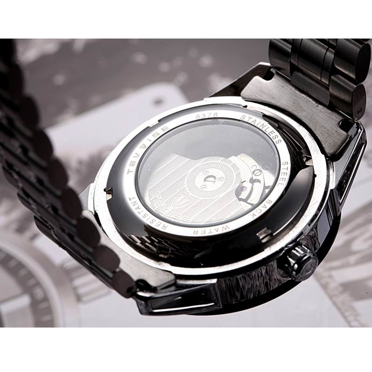 84b217d232c ... mens watches top brand luxury TEVISE Automatic Winding Tourbillon Mechanical  Watch Sport Military Relogio Automatico Masculino ...