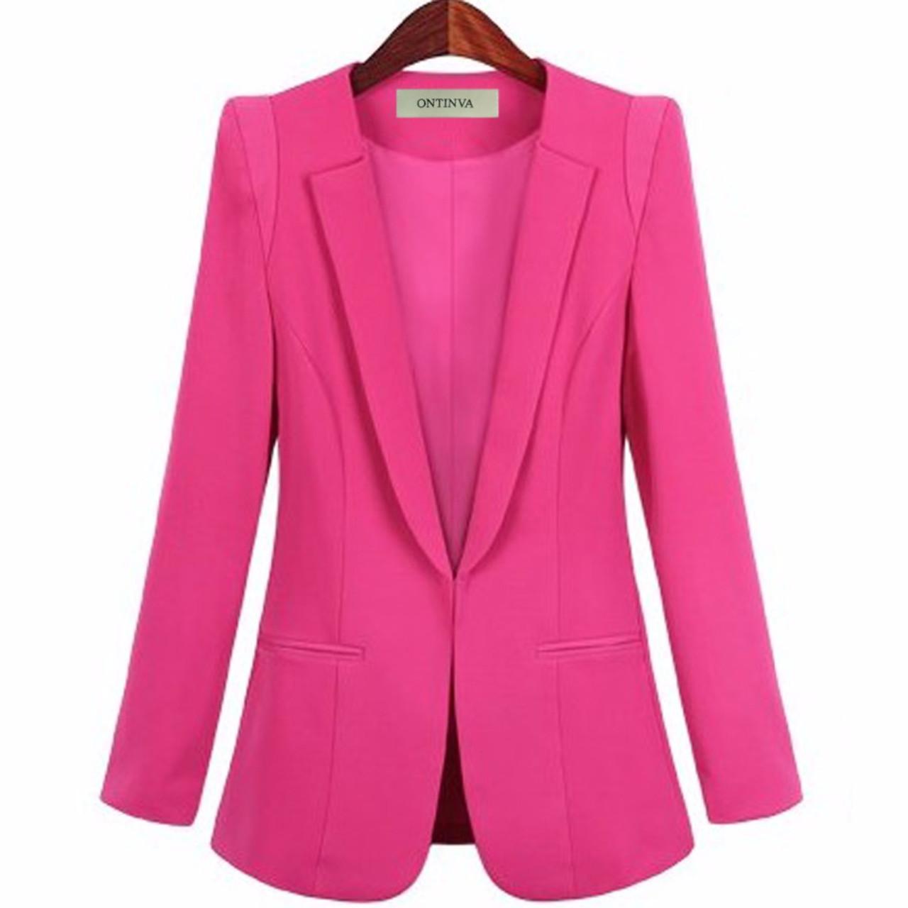 e8fa0b6225 ... Ladies Yellow Blazer Feminino Plus Size 4XL Formal Jacket Women s White  Blaser Rosa Female Blue Women ...