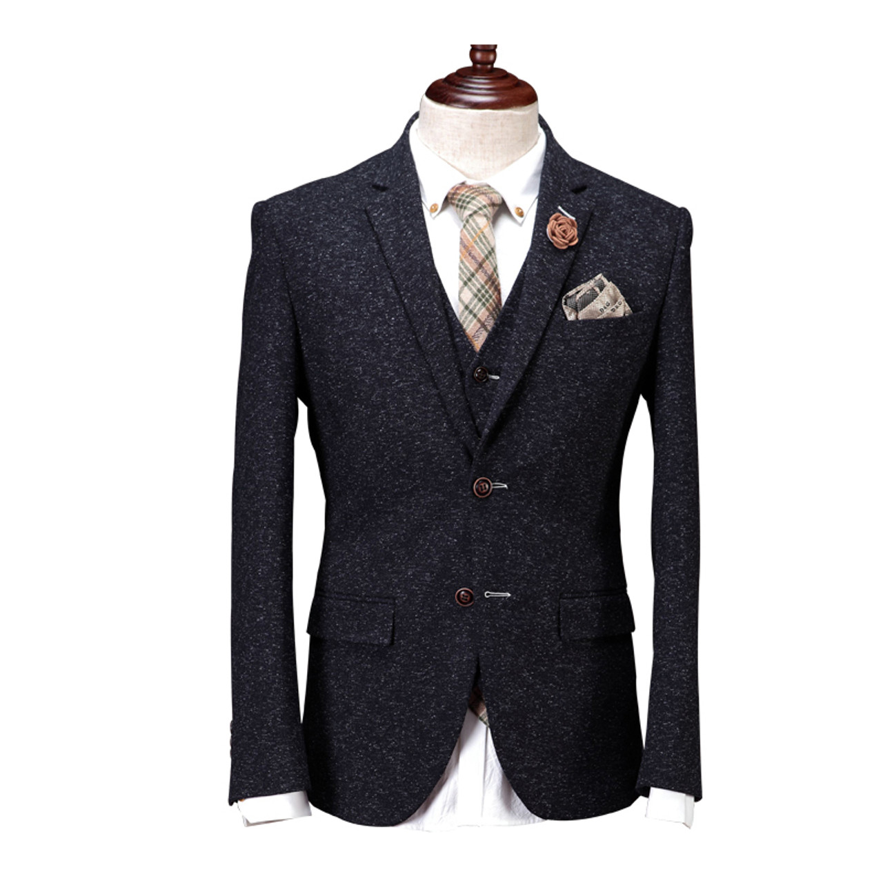 599d1045b50 ... DHL Free Shipping Cajerin Men Clothing Suit Blazer Snow Spots Wedding  Business Slim(Jacket+ ...