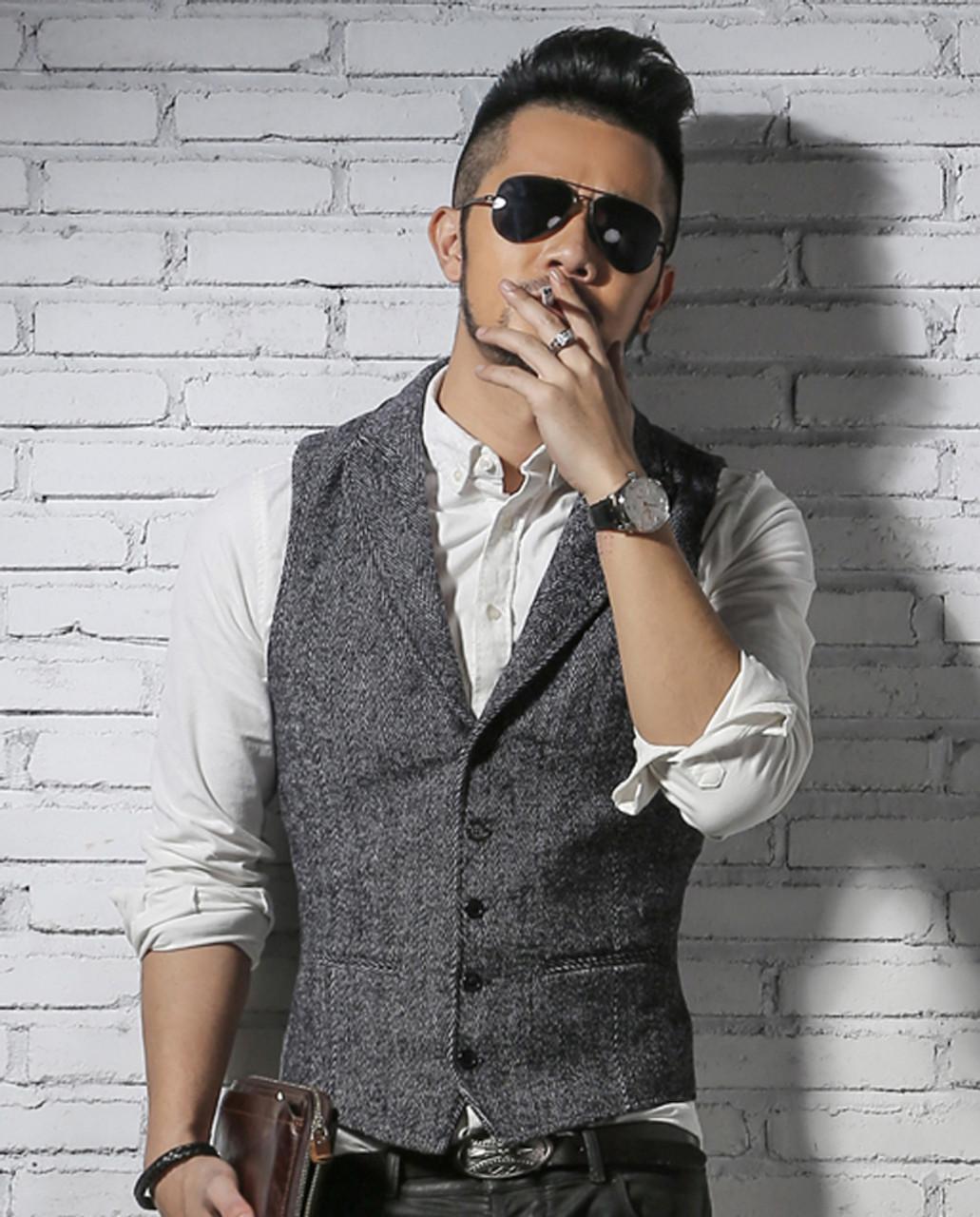 men's brand sleeveless jacket waistcoat men suit vest fashion male