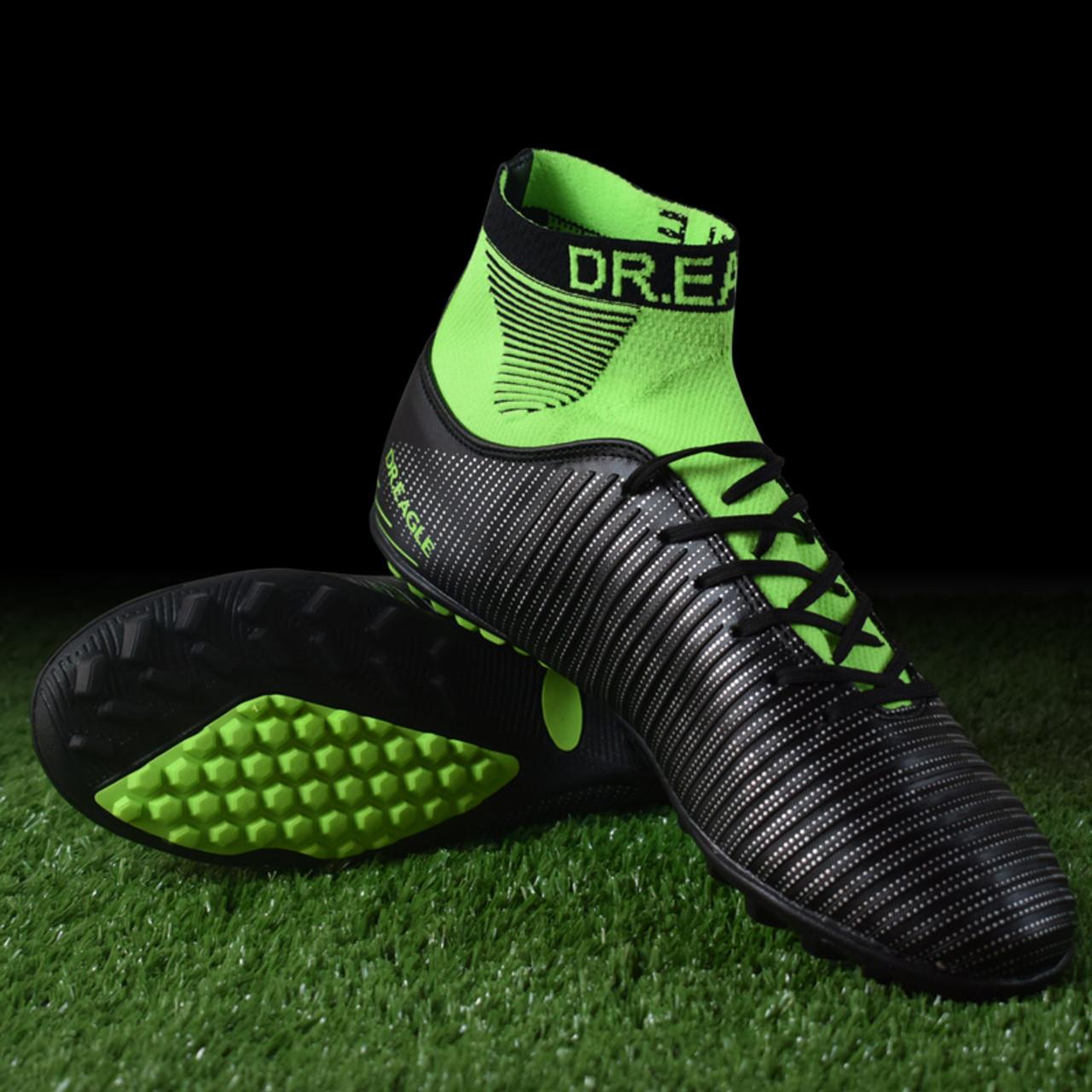 f1a549334 EAGLE TF/ turf Indoor high ankle soccer cleats football shoes futsal  Footballs Sock ...