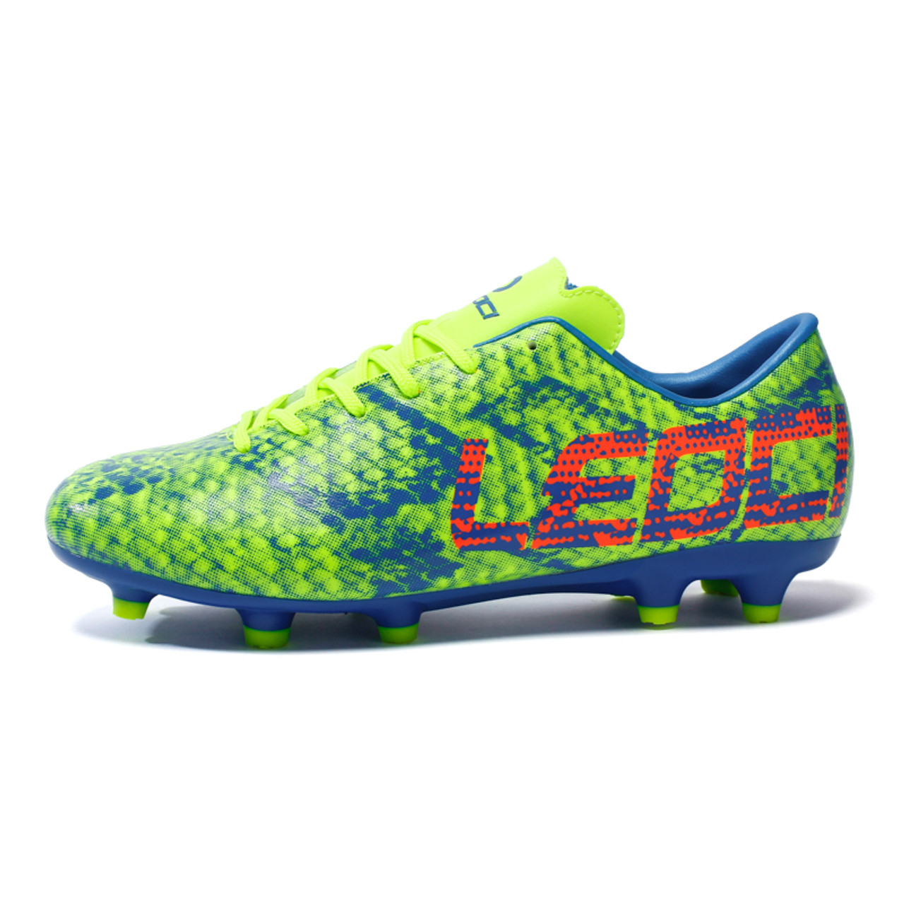 3023c7c840a ... Men Boys Kids Soccer Shoes Outdoor Lawn Long Spikes Soccer Boots Cleats  LEOCI Football Shoes For ...