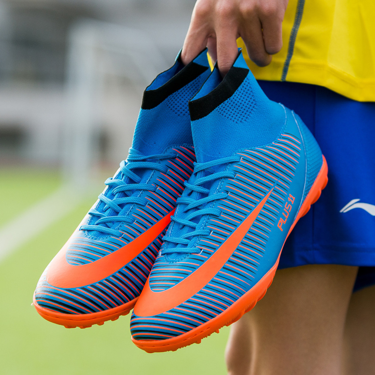 1924f3f1d Sufei Soccer Shoes TF High Ankle Professional Football Boots Suferfly FG  Cheap Futsal Sock Cleats Training Sport Sneakers - OnshopDeals.Com