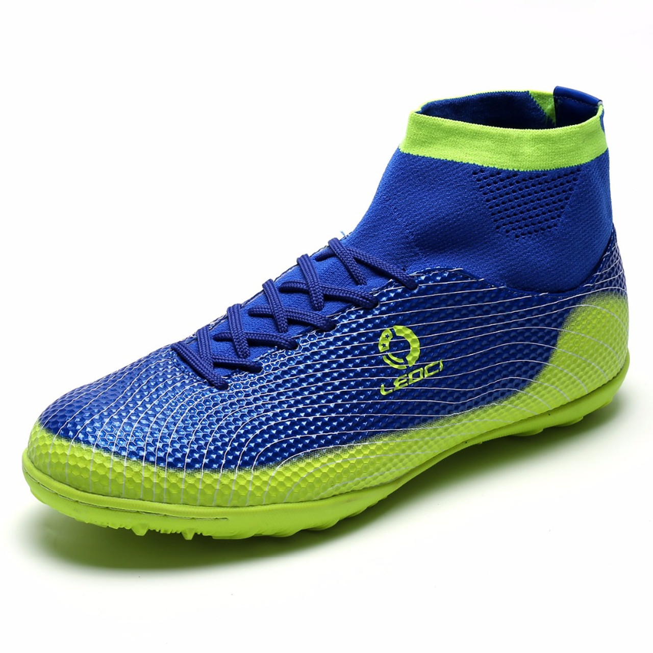 7b1869e19b88 ... Leoci Men TF Soccer Shoes High Ankle Football Boots Plus Size Soccer  Cleat Boots Kids Boys ...