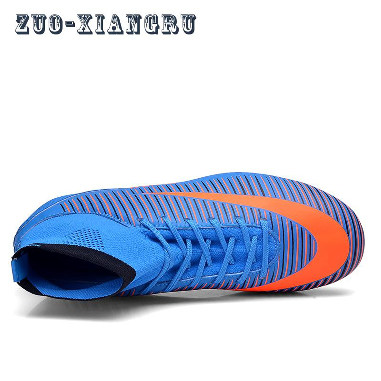 838cf8f7df4 ... Men Soccer Shoes Indoor Futsal Shoes With Socks Professional Trainer TF  Football Boot high ankle Zapatillas ...