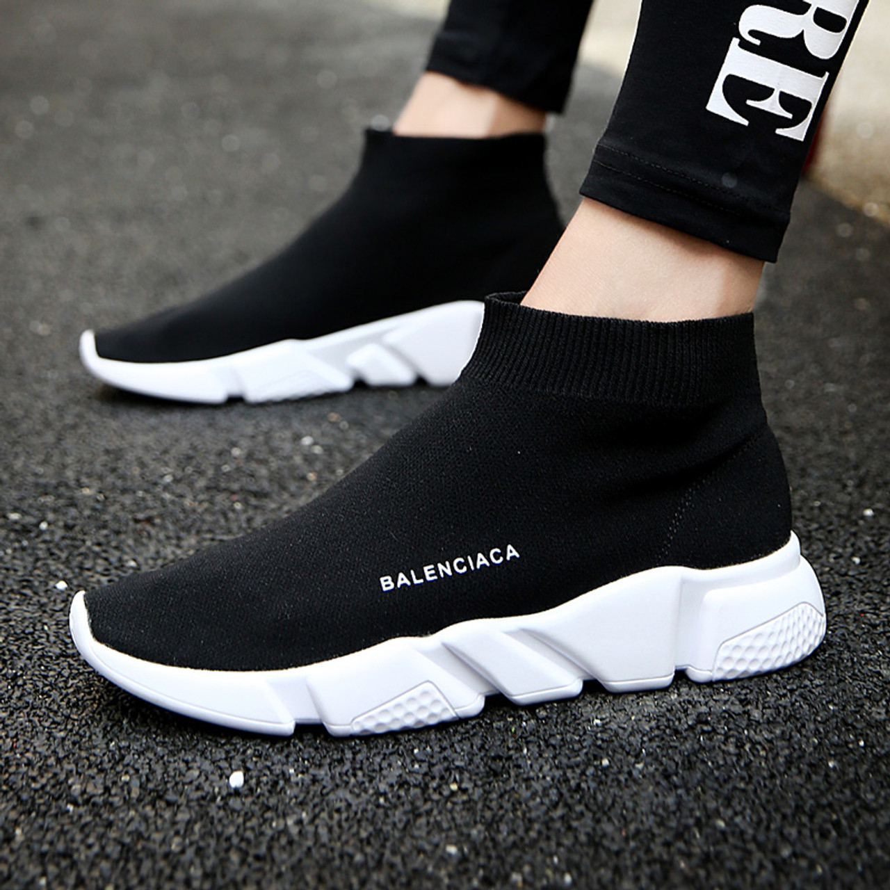 a5bd6fea53f0 ... summer Brand sport athletic Running Shoe for Men woman unisex  breathable Mesh female sock Sneakers Outdoors ...