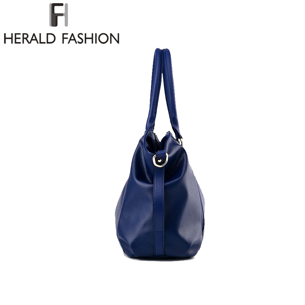 e844f9b1ce8 ... Herald Fashion Designer Women Handbag Female PU Leather Bags Handbags  Ladies Portable Shoulder Bag Office Ladies ...