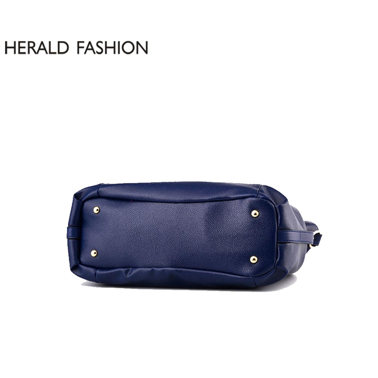 fea4ea8e9e5 ... Herald Fashion Designer Women Handbag Female PU Leather Bags Handbags  Ladies Portable Shoulder Bag Office Ladies ...
