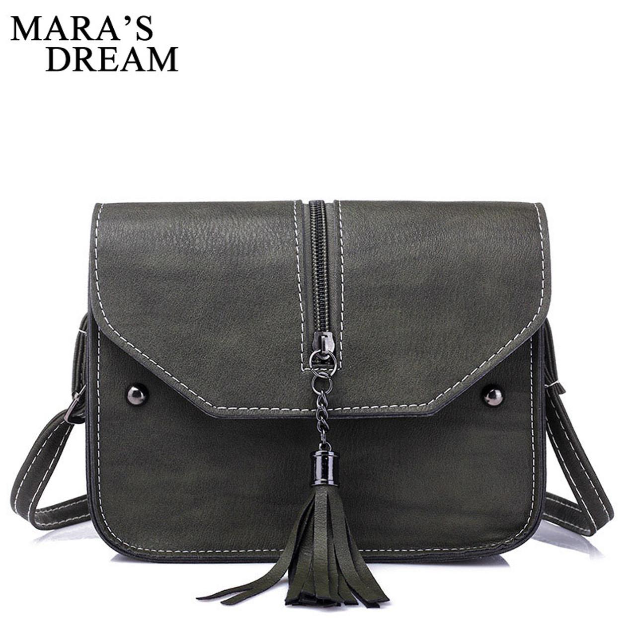 9b523336f7 ... Mara s Drea Brand 2018 New Vintage Casual PU Leather Women Handbags  Ladies Small Shopping Bag Shoulder ...