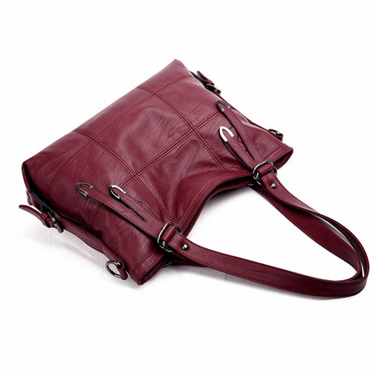 b811b9277d ... YASICAIDI Patchwork Women Shoulder Bag High Quality Black Pu Leather  Women Handbag Vintage Stitching Large Crossbody ...