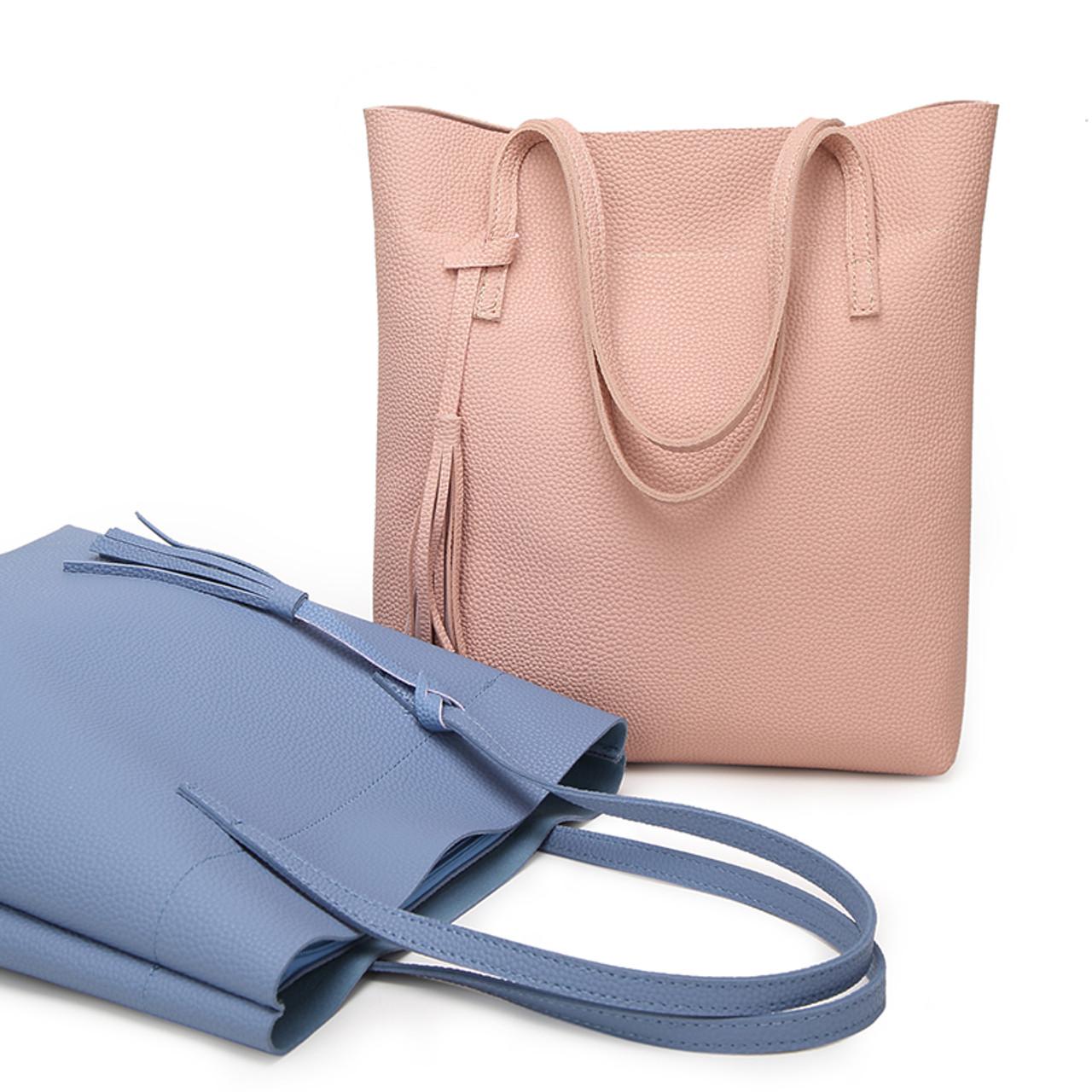 8a5afd7e7d91 ... Ankareeda Women s Soft Leather Handbag High Quality Women Shoulder Bag  Luxury Brand Tassel Bucket Bag Fashion ...