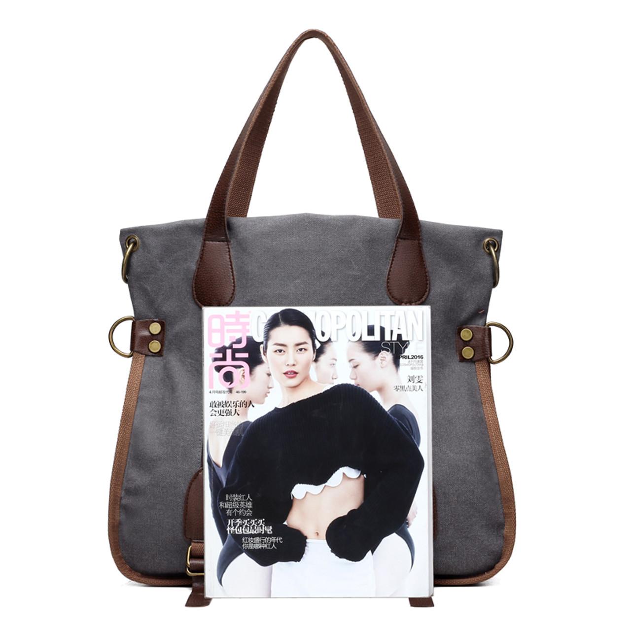 648be989e3 ... 2017 Fashion Big Women Canvas Bag Ladies Shoulder Bags Handbags Women  Famous Brands Large Captain Casual ...