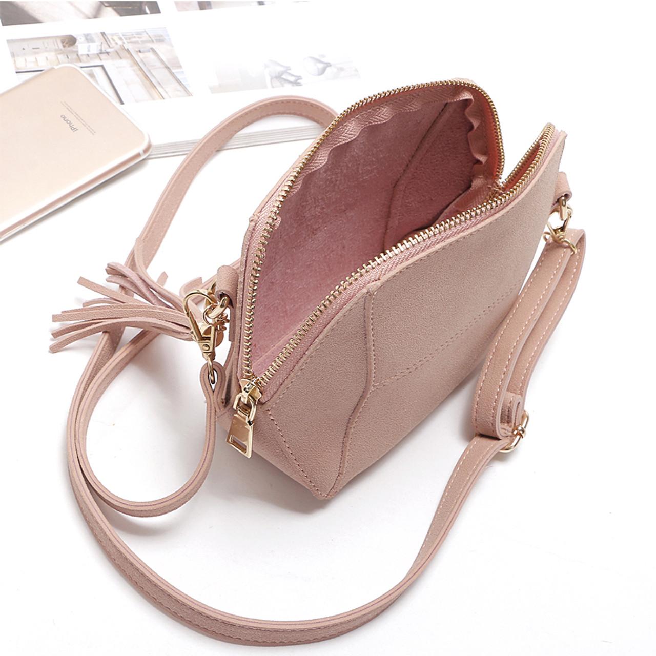 32dcf2ebc ... Fringe Crossbody Bag Women Suede Clutch Bag Girl Fashion Messenger  Shoulder Handbags Ladies Beach Holiday Tassel ...