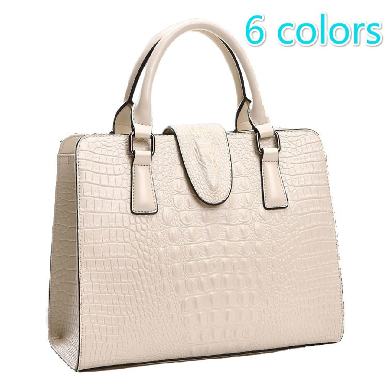 bf12469ad366 Genuine leather bag ladies 2016 crocodile pattern Women messenger bags  handbags women famous designer high quality fashion - OnshopDeals.Com