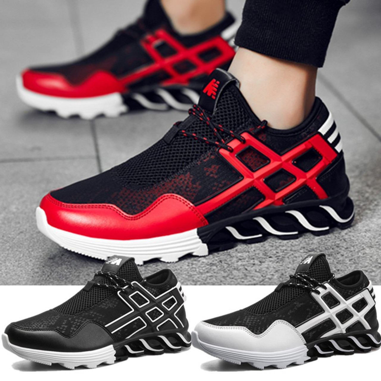 Spring New Net Shoe Man Breathable Cloth Shoes Tide Black Lattice Strap Shoe Men's Shoes Back To Search Resultsshoes