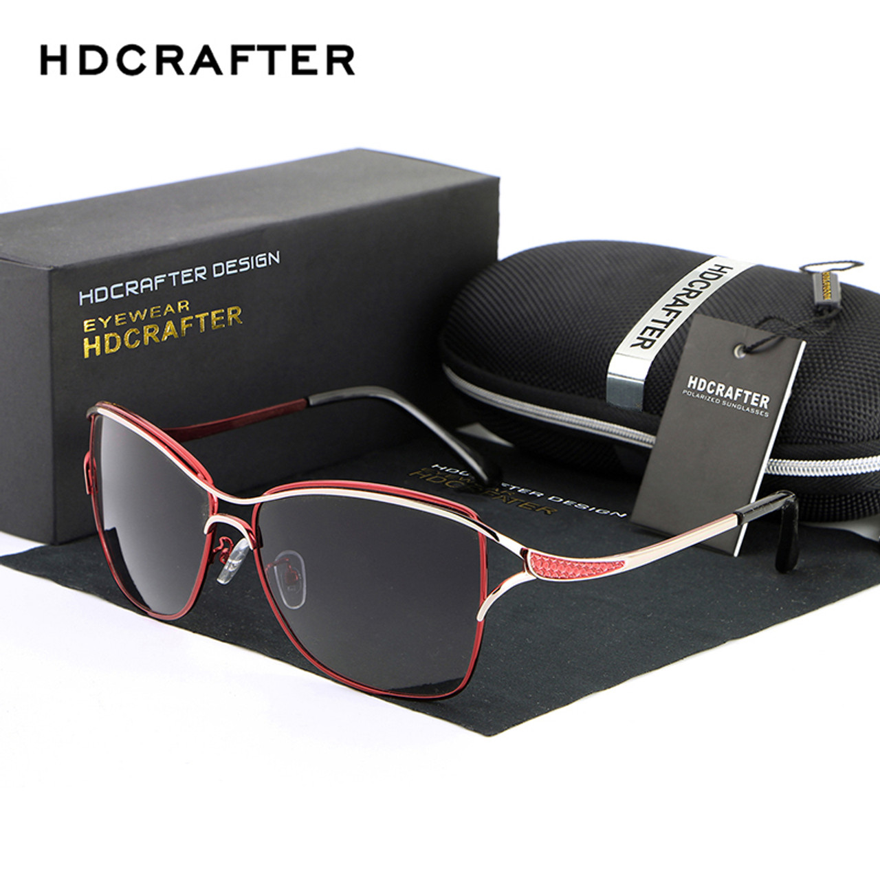b03777116a2 HDCRAFTER Polarized Cat Eye Sunglasses Women Fashion Style Brand Designer  Driving Sun Glasses for Women Oculos ...
