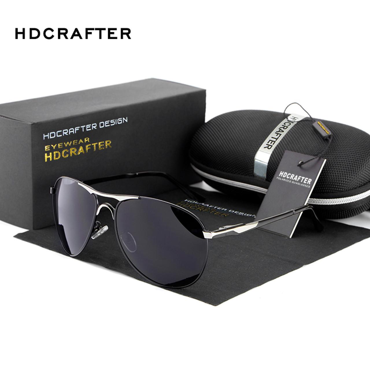 e9a922db9796 ... HDCRAFTER Brand Designer Polarized Sunglasses Man Cool Sun Glasses Men  UV400 Protection Goggle Eyewear Accessories For ...
