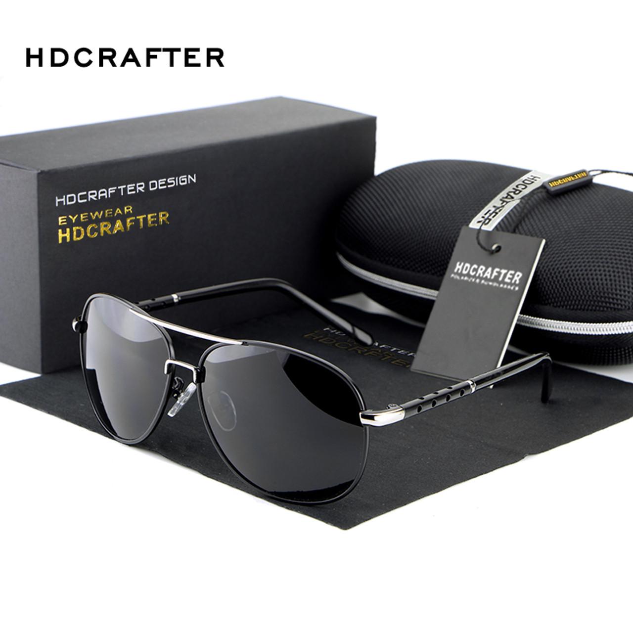 32a8ad653be ... HDCRAFTER Men Polarized Aviator Sunglasses New brand designer Aluminum  Magnesium Driving Male Fashion Sunglasses 2018 ...