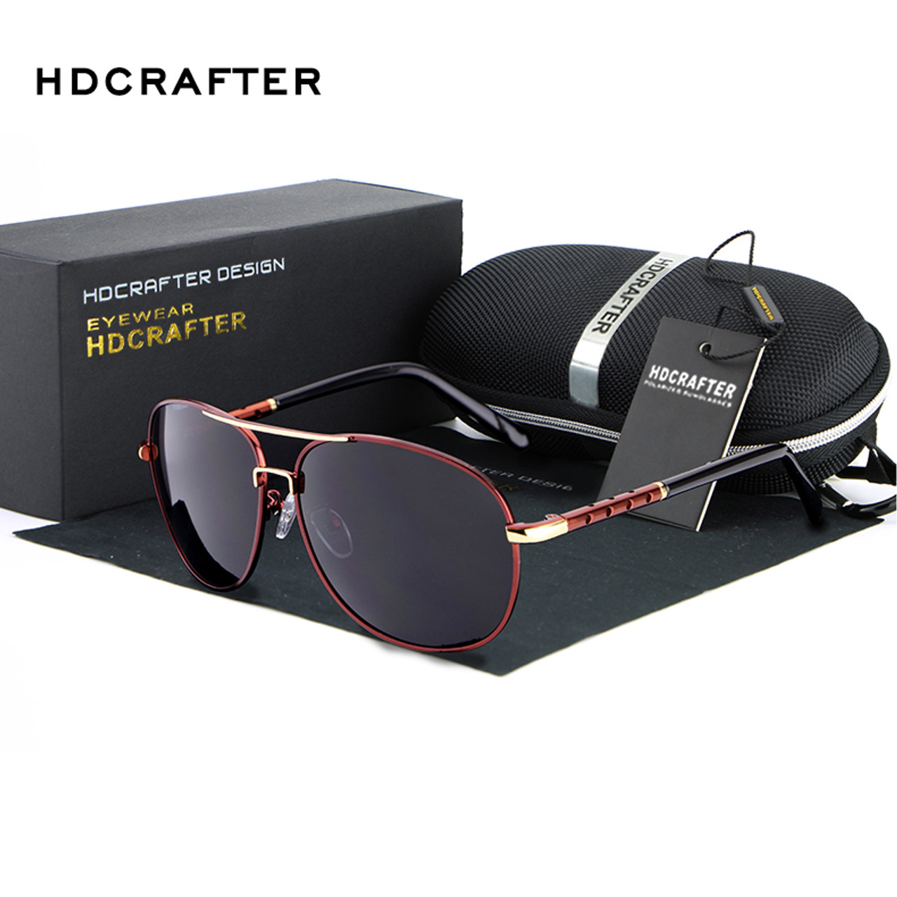 8b38c69ae8 ... HDCRAFTER Men Polarized Aviator Sunglasses New brand designer Aluminum  Magnesium Driving Male Fashion Sunglasses 2018 ...