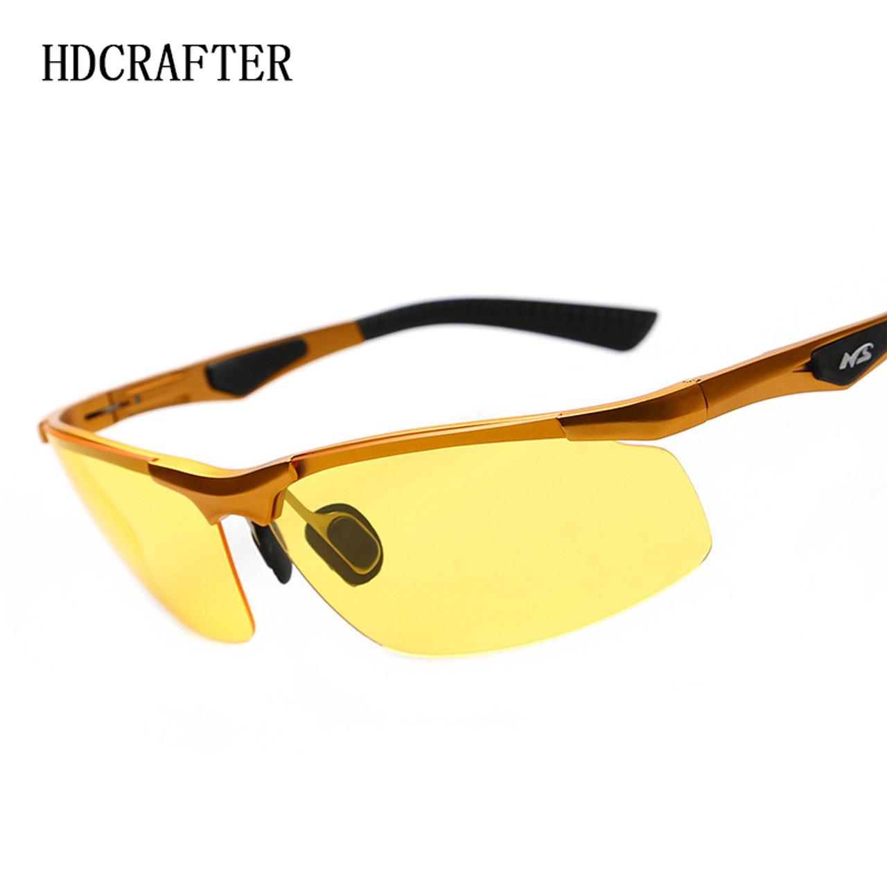 4dc6aa2661fa ... Night Driving New HDCRAFTER Anti-Glare Goggles Eyeglasses Polarized  Driving Sunglasses Yellow Lens Night Vision ...