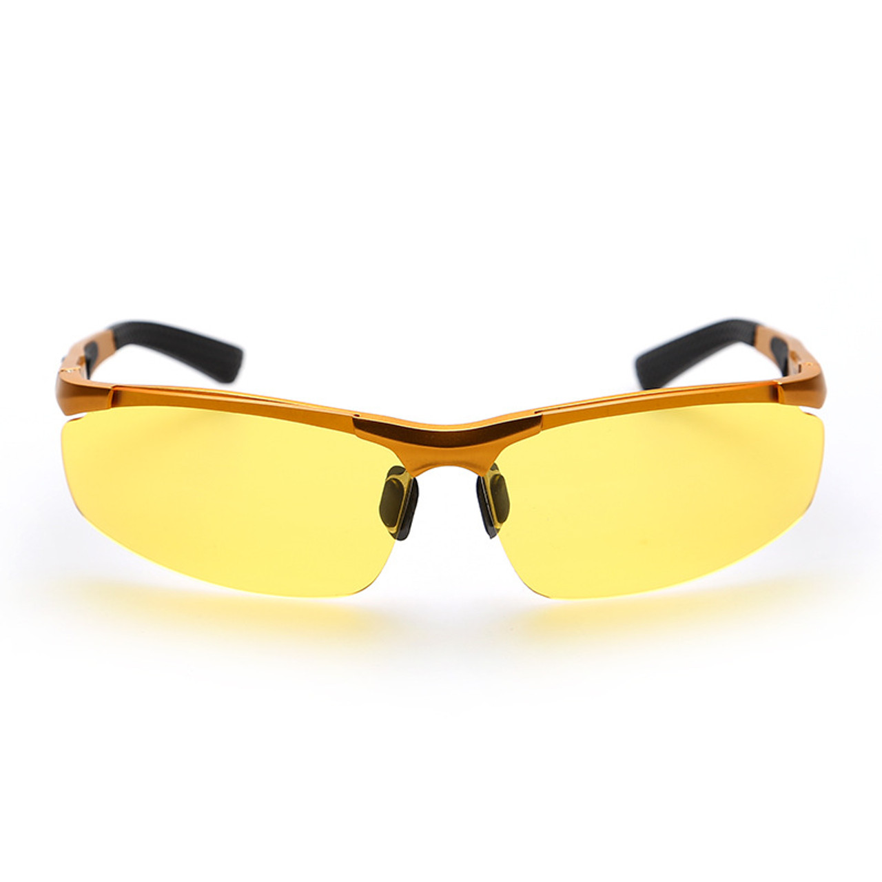ca659371b0a ... Night Driving New HDCRAFTER Anti-Glare Goggles Eyeglasses Polarized  Driving Sunglasses Yellow Lens Night Vision ...