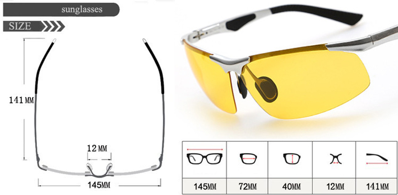 d0506a325 ... Night Driving New HDCRAFTER Anti-Glare Goggles Eyeglasses Polarized  Driving Sunglasses Yellow Lens Night Vision ...