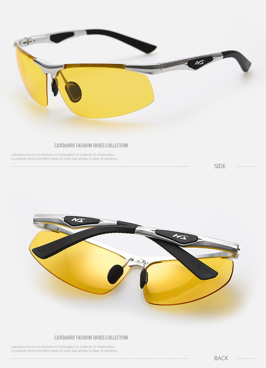 f33a3c6b9a ... Night Driving New HDCRAFTER Anti-Glare Goggles Eyeglasses Polarized  Driving Sunglasses Yellow Lens Night Vision ...