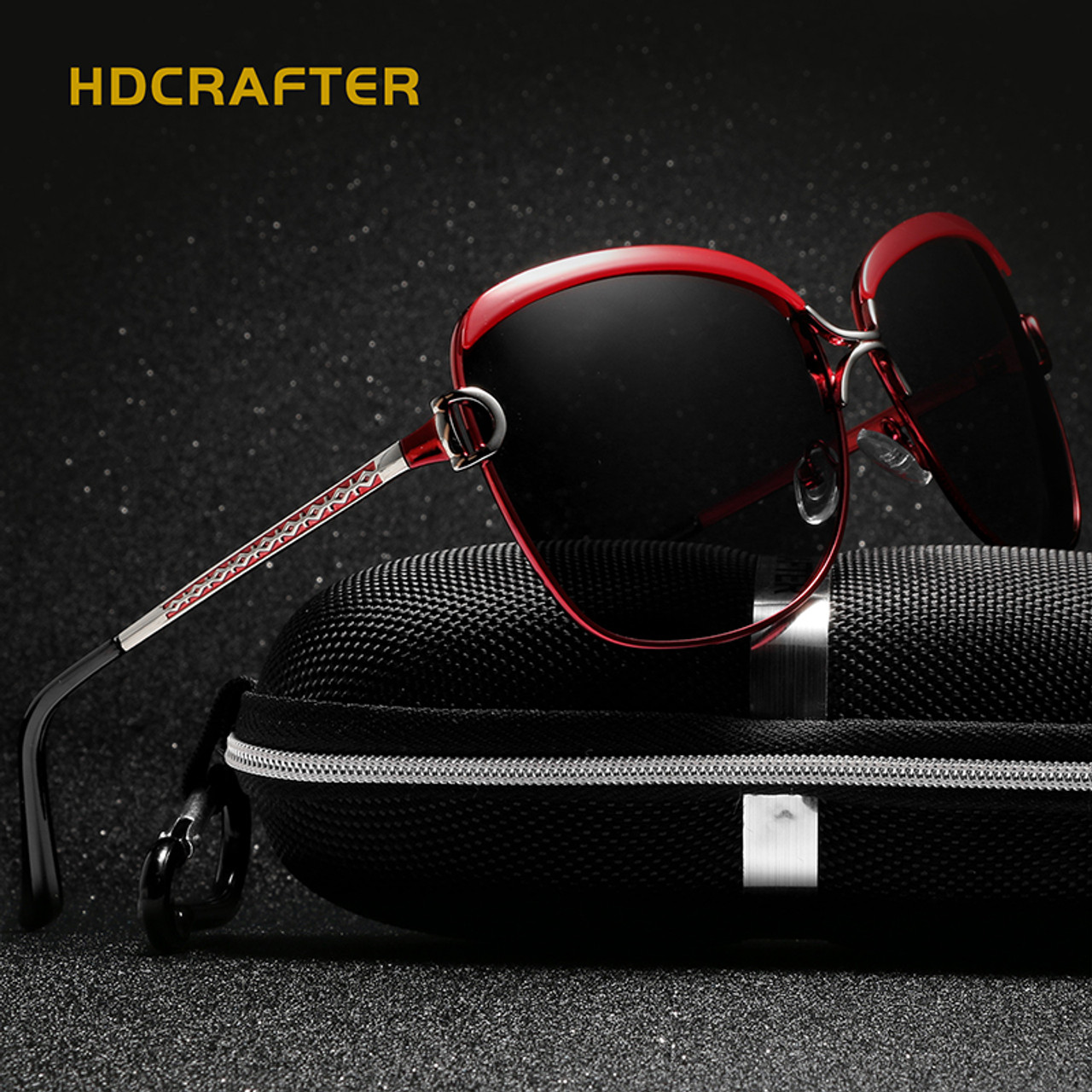 68a27cb9490 HDCRAFTER Luxury Sunglasses Women 2017 Brand Designer Large Sun Glasses  Female Retro Polaroid Eyewear Women UV400 oculos de sol - OnshopDeals.Com