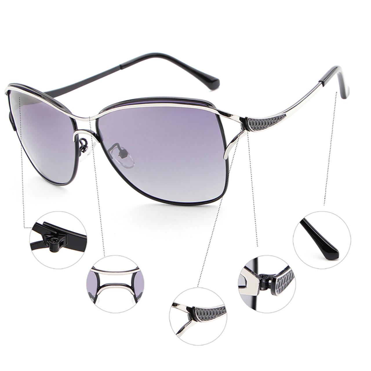 f78114f81a06 ... HDCRAFTER Brand Elegant Fashion Ladies Sunglasses Female Larged-Framed  Polarized Oculos De Sol Eyewear Accessories ...