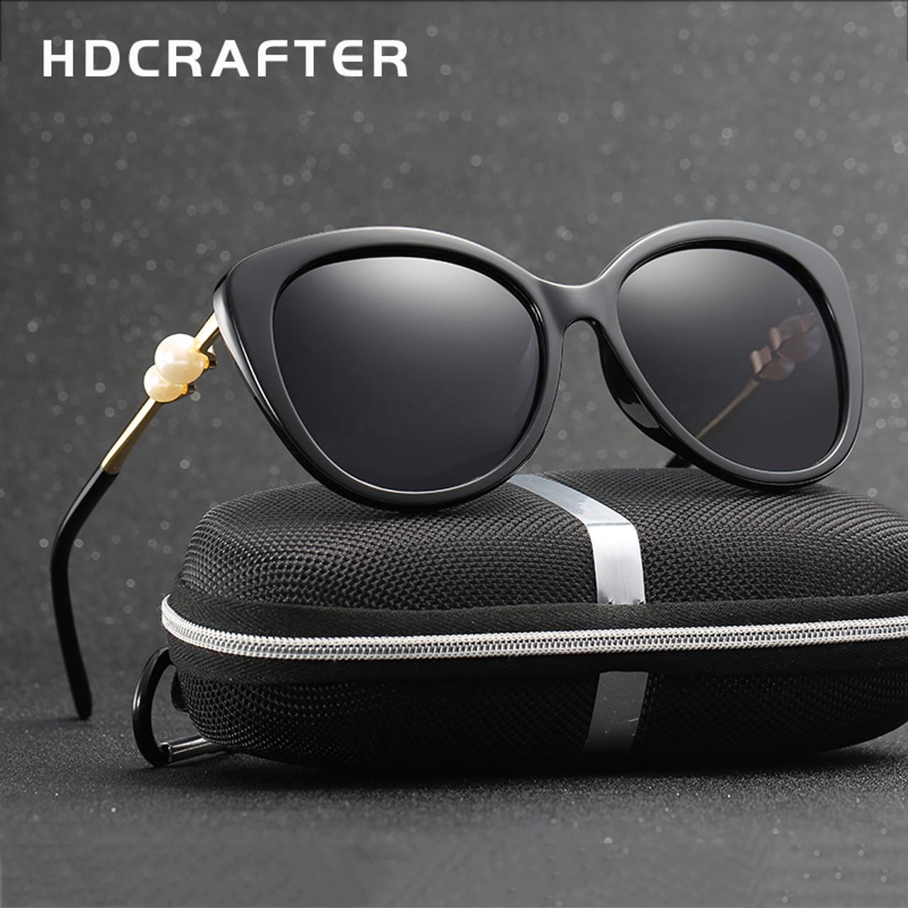 b7eea83ec82 2017 HDCRAFTER Fashion Pearl Polarized Sunglasses Women Luxury Lady Brand  Designer Sun Glasses Vintage Elegant Eyewear ...