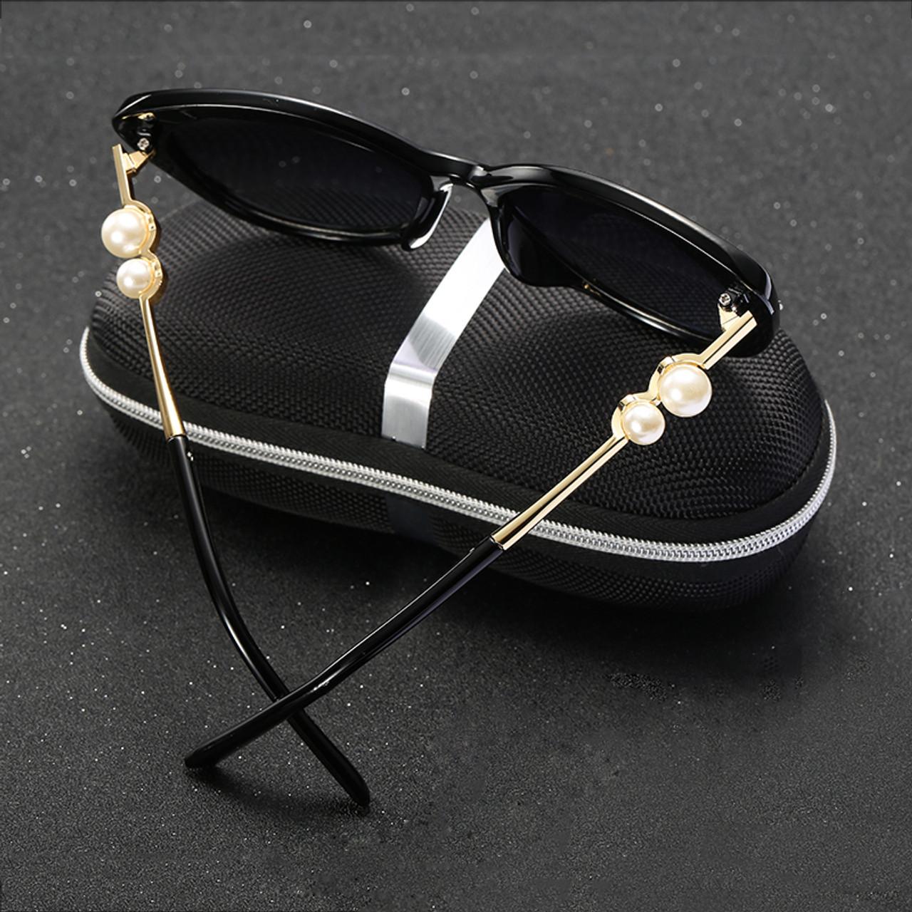 9e72dc3f0d9 ... 2017 HDCRAFTER Fashion Pearl Polarized Sunglasses Women Luxury Lady  Brand Designer Sun Glasses Vintage Elegant Eyewear ...