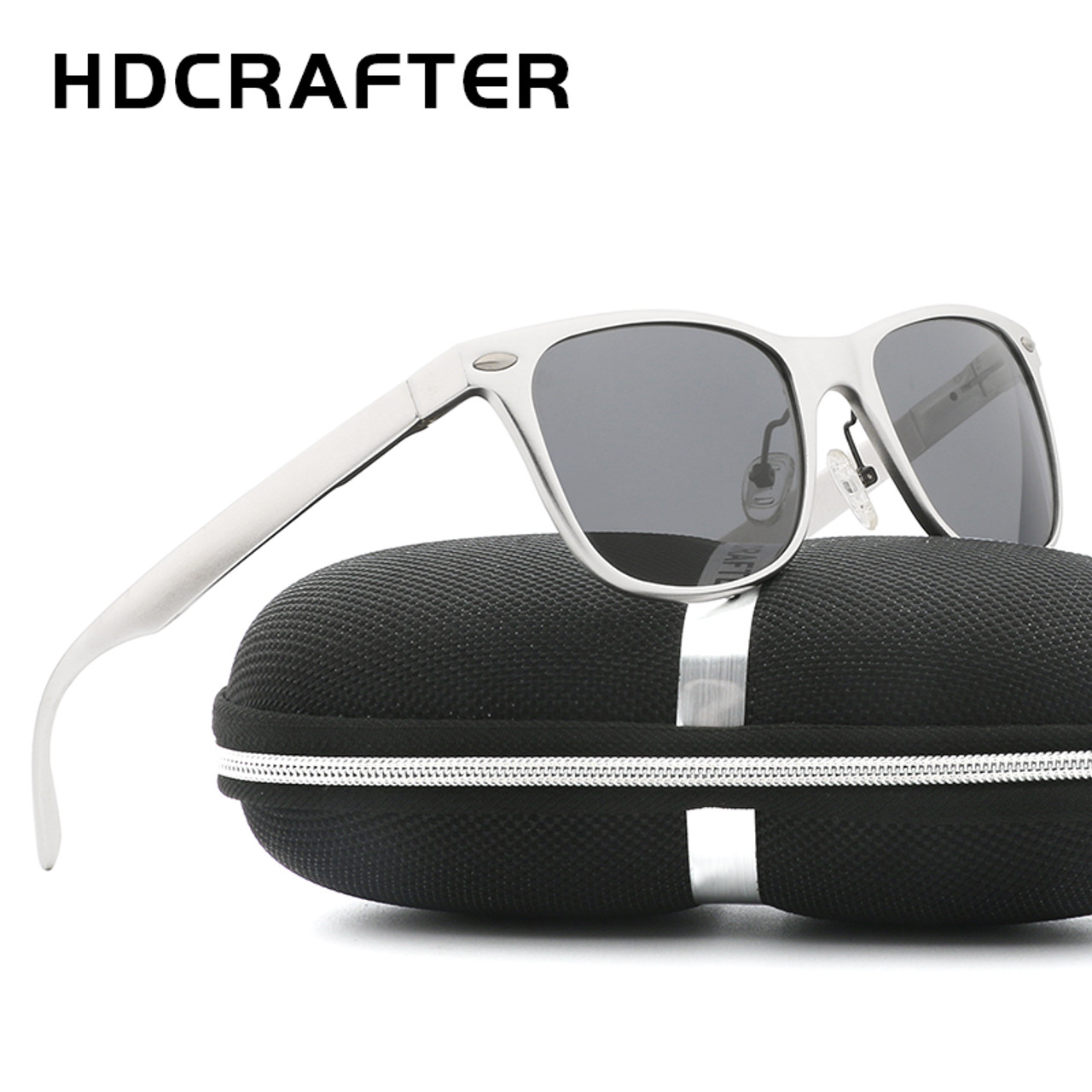 a8df24f7605 HDCRAFTER Brand Unisex Aluminum Square Men s Polarized Mirror Sun Glasses  Female Eyewears Accessories Sunglasses For ...