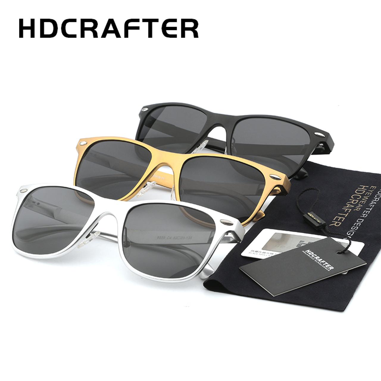 ac340bacf6 ... HDCRAFTER Brand Unisex Aluminum Square Men s Polarized Mirror Sun  Glasses Female Eyewears Accessories Sunglasses For ...