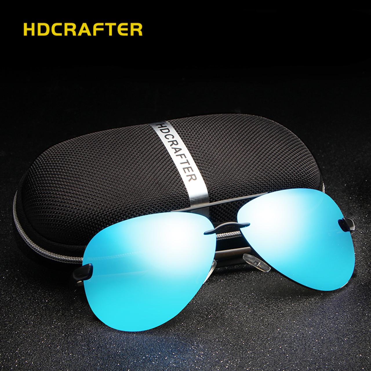0e07b84dd5 HDCRAFTER Aluminum magnesium polarized aviation Sunglasses men driving sun  Glasses vintage oculos de sol ...