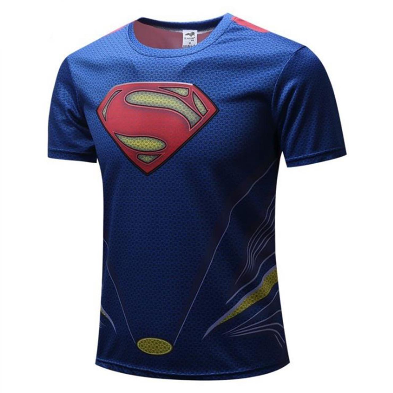 f06f6d9f10e ... Boy T-shirt Cartoon Superheroes Batman Avengers Captain America Round  Collar Short Sleeve T- ...