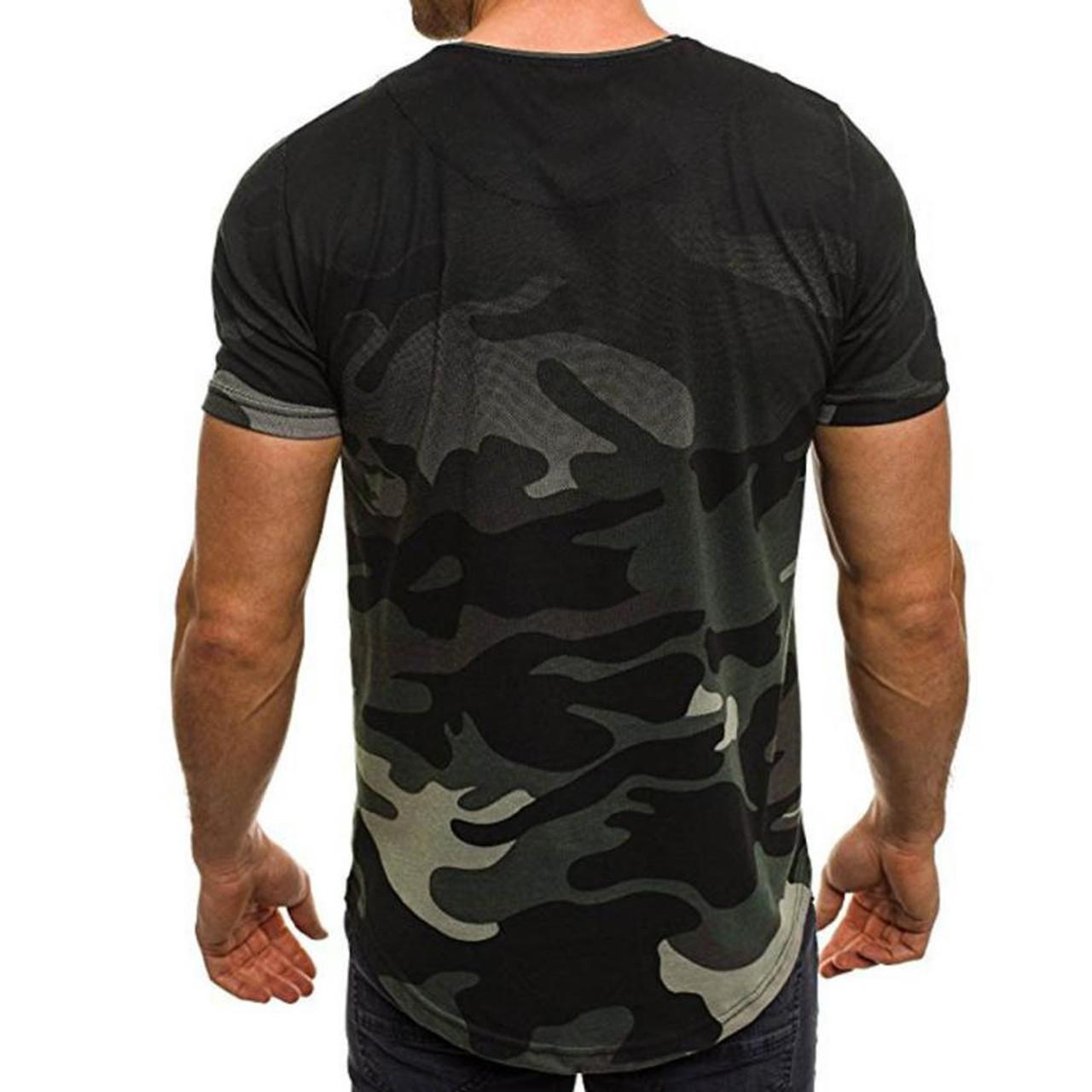 d0bf0222b319 ... New Design Fashion Men s T-Shirt 2018 Summer Short Sleeve Camouflage T  Shirt Men Brand ...