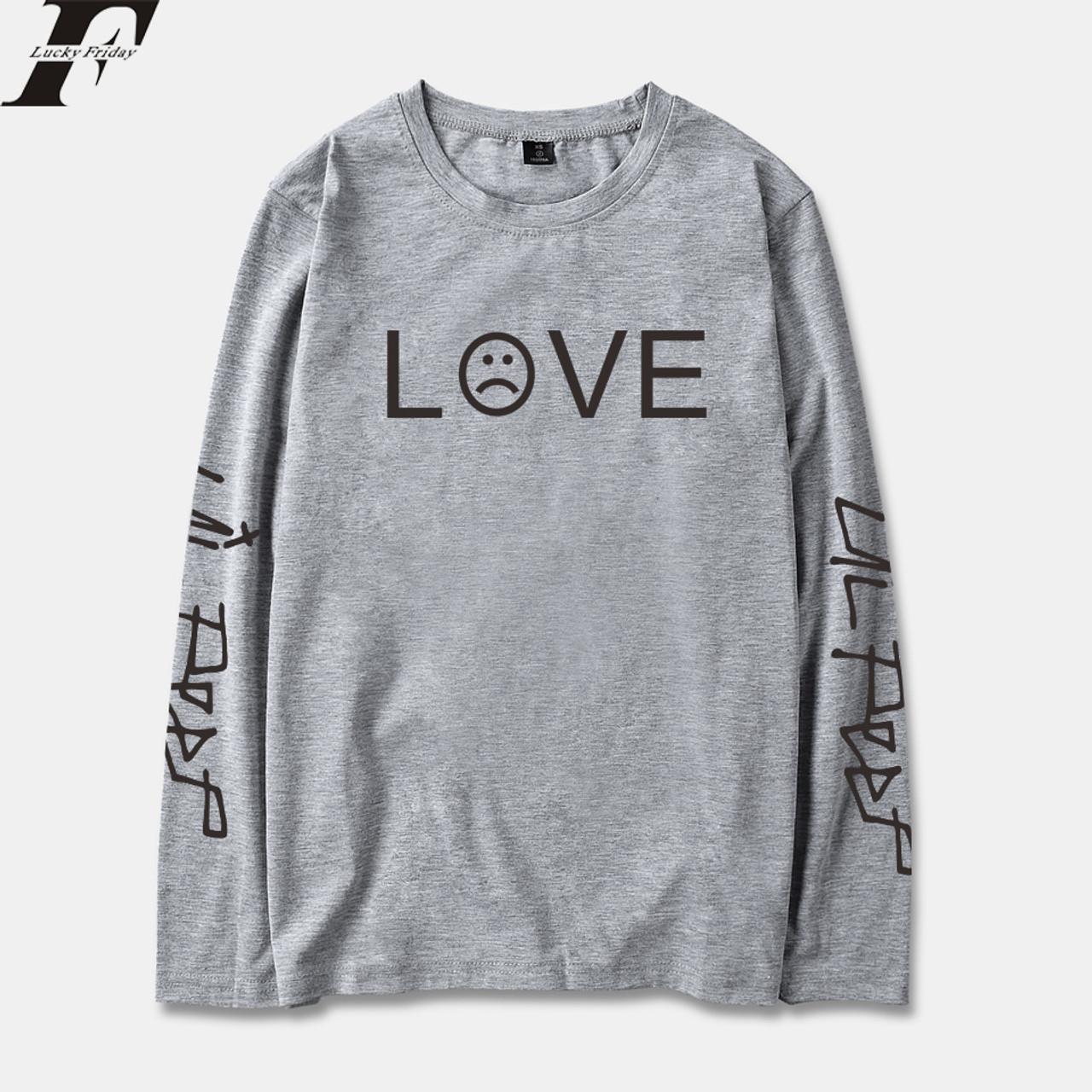 5ce7dd6c6d LUCKYFRIDAYF 2018 Lil Peep R.I.P. Long Sleeve T Shirt Men/Women Cotton  Spring Fashion Casual Streetwear Hip Hop Long T-shirt Top