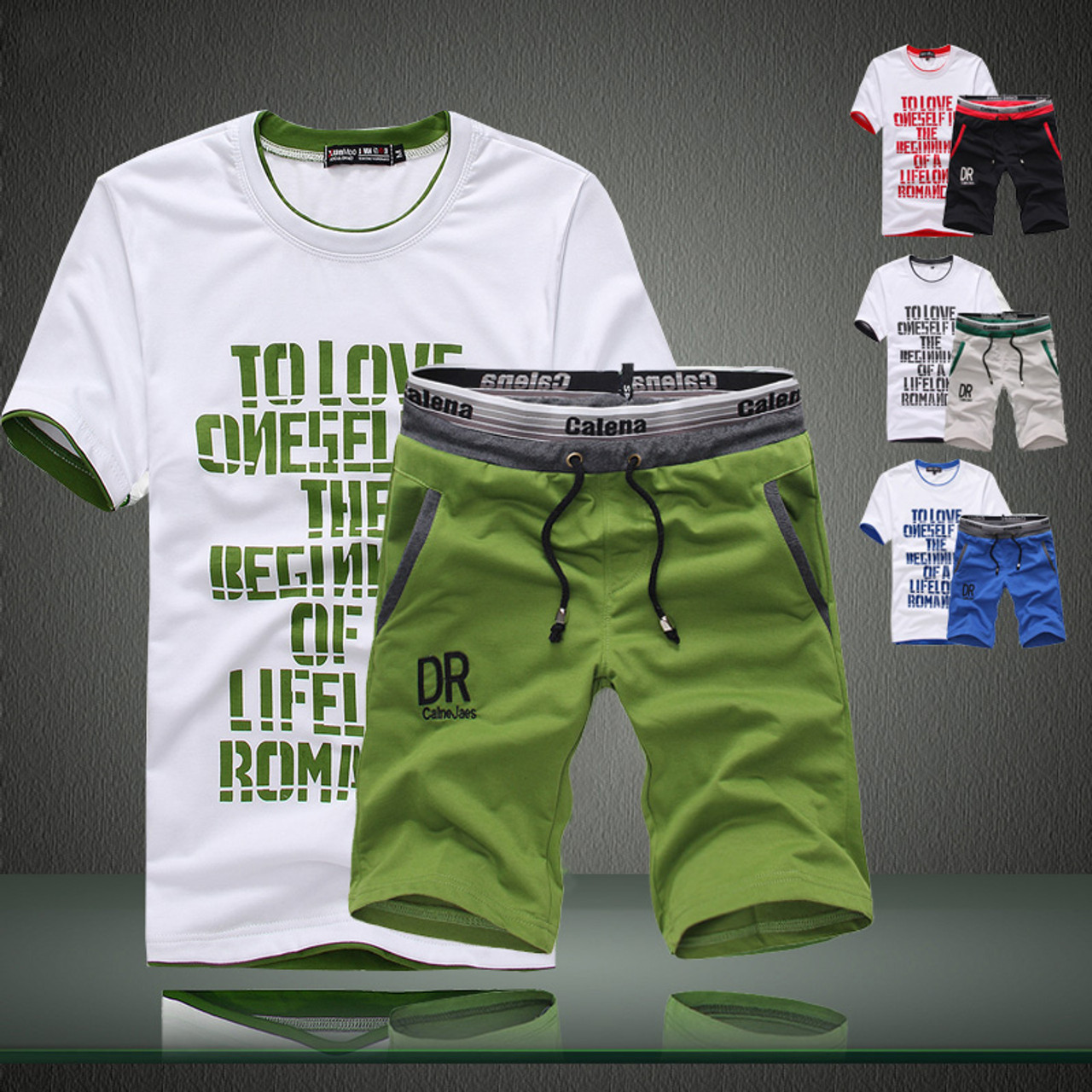 37422722e76 Left ROM New Summer 2018 Fine Cotton Printed High Quality Fashion Men s  Casual Round Collar Short ...