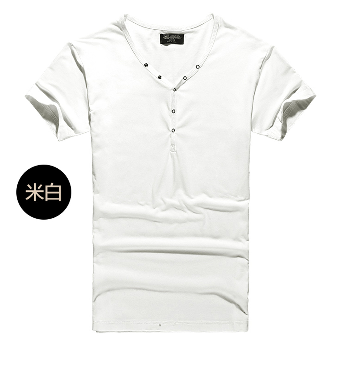5c4ce507a92 Tops Tees Short Sleeve t-shirt men's brand fashion Slim Fit sexy V neck T  shirt men 2018 New Mens Summer hot sale