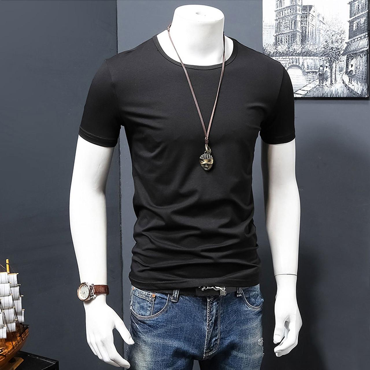 c145b62a ... 2018 New Fashion Man Cotton Casual t shirt Summer Style T-shirt Mens o-  ...