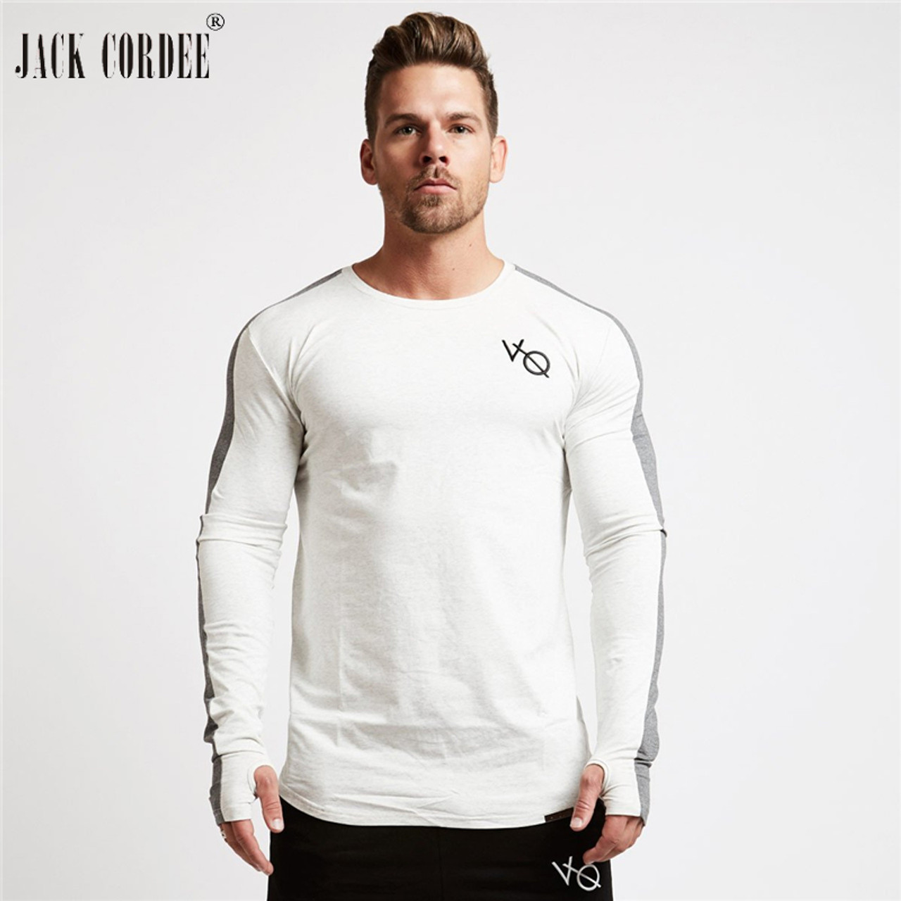 ... JACK CORDEE Fashion Men s T-shirt 2018 Spring Long Sleeve T shirt Men  O- ... 4aa75c68464