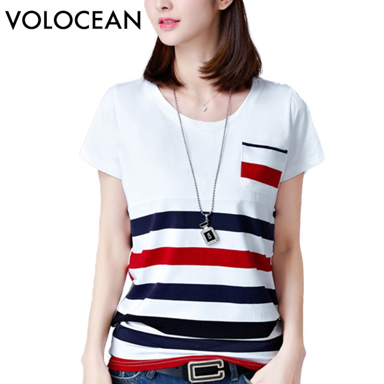 feb06e701cf VOLOCEAN New Womens Tops Fashion 2018 Plus Size Summer Women T Shirt Casual  Short Woman T ...