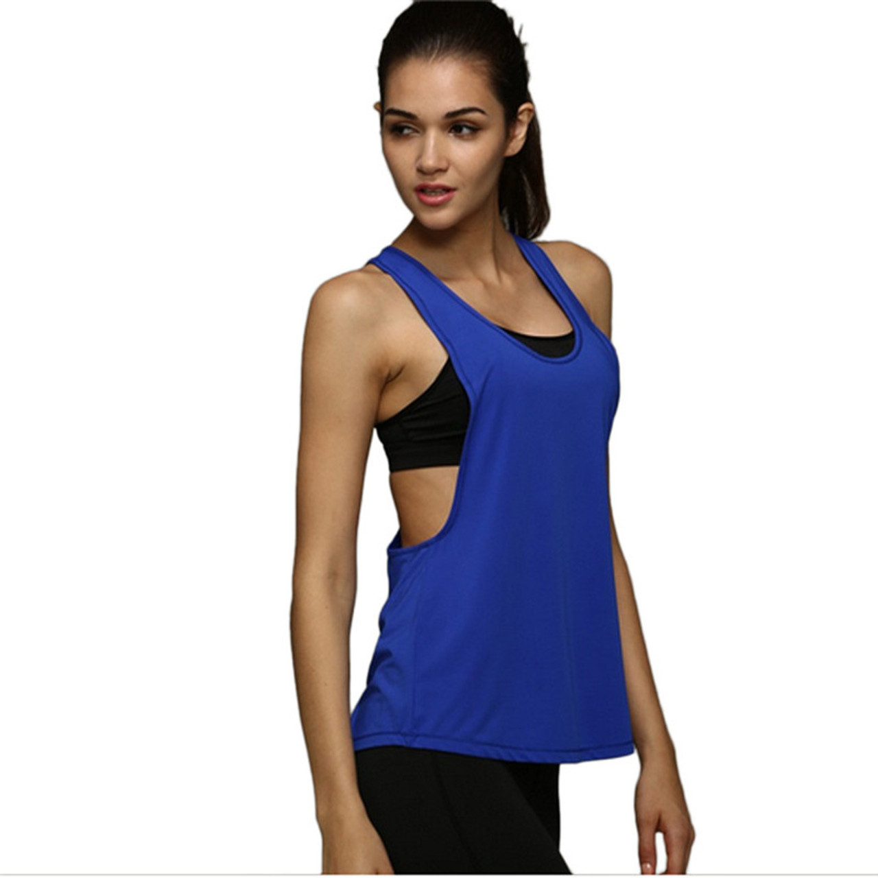 46f86f7447014 ... Feitong New Fashion Tank Top Women T-shirt Summer Vest Sexy Loose Solid  Color Sleeveless ...